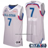 Camiseta All Star 2017 New York Knicks Carmelo Anthony #7 Gris