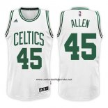 Camiseta Boston Celtics Kadeem Ray Allen #45 Swingman Home 2017-18 Blanco
