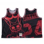 Camiseta Chicago Bulls Lauri Markkanen #24 Mitchell & Ness Big Face Negro