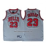 Camiseta Chicago Bulls Michael Jordan #23 Retro Gris