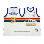 Camiseta Denver Nuggets Allen Iverson #3 Retro Blanco