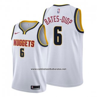 Camiseta Denver Nuggets Keita Bates Diop #6 Association 2019-20 Blanco