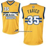 Camiseta Denver Nuggets Kenneth Faried #35 Amarillo