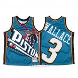 Camiseta Detroit Pistons Ben Wallace #3 Mitchell & Ness Big Face Azul