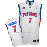 Camiseta Detroit Pistons Brandon Jennings #7 Blanco