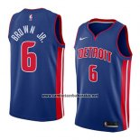 Camiseta Detroit Pistons Bruce Brown Jr. #6 Icon 2018 Azul
