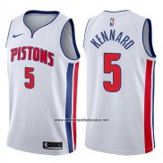 Camiseta Detroit Pistons Luke Kennard #5 Association 2017-18 Blanco