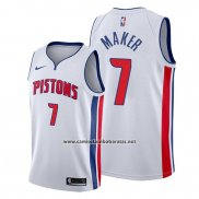 Camiseta Detroit Pistons Thon Maker #7 Association Blanco