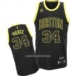 Camiseta Electricidad Moda Boston Celtics Paul Pierce #34 Negro
