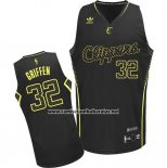 Camiseta Electricidad Moda Los Angeles Clippers Blake Griffin #32 Negro
