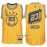 Camiseta Golden State Warriors Draymond Green #23 Retro City Bus Amarillo