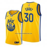 Camiseta Golden State Warriors Stephen Curry #30 Statement The Bay Oro