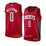 Camiseta Houston Rockets Russell Westbrook #0 Icon 2019-20 Rojo