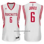 Camiseta Houston Rockets Terrence Jones #6 Blanco