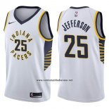 Camiseta Indiana Pacers Al Jefferson #25 Association 2017-18 Blanco