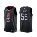 Camiseta Los Angeles Clippers Joakim Noah #55 Statement Negro