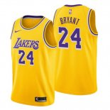 Camiseta Los Angeles Lakers Kobe Bryant Icon #24 2018-19 Amarillo