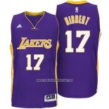 Camiseta Los Angeles Lakers Roy Hibbert #17 Violeta