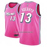Camiseta Miami Heat Bam Adebayo #13 Earned 2018-19 Rosa