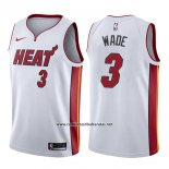 Camiseta Miami Heat Dwyane Wade #3 Association 2017-18 Blanco