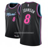 Camiseta Miami Heat Tyler Johnson #8 Ciudad 2018-19 Negro