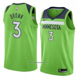 Camiseta Minnesota Timberwolves Anthony Marron #3 Statement 2018 Verde