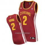 Camiseta Mujer Cleveland Cavaliers Kyrie Irving #2 Rojo
