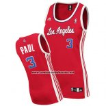Camiseta Mujer Los Angeles Clippers Chris Paul #3 Rojo