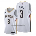 Camiseta New Orleans Pelicans Josh Hart #3 Association Blanco