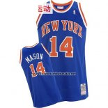 Camiseta New York Knicks Anthony Mason #14 Retro Azul