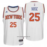 Camiseta New York Knicks Derrick Rose #25 Blanco