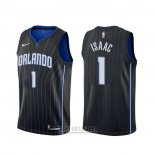 Camiseta Orlando Magic Jonathan Isaac #1 Statement Negro