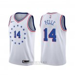 Camiseta Philadelphia 76ers Norvel Pelle #14 Earned 2019-20 Blanco