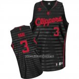 Camiseta Ranura Moda Los Angeles Clippers Chris Paul #3 Negro