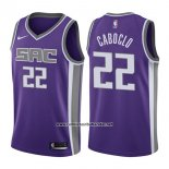 Camiseta Sacramento Kings Bruno Caboclo #22 Icon 2017-18 Violeta