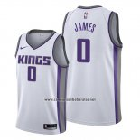 Camiseta Sacramento Kings Justin James #0 Association 2019-20 Blanco