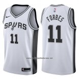 Camiseta San Antonio Spurs Bryn Forbes #11 Swingman Association 2017-18 Blanco