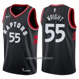 Camiseta Toronto Raptors Delon Wright #55 Statement 2017-18 Negro