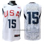 Camiseta USA 2008 Anthony #15 Blanco