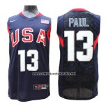 Camiseta USA 2008 Paul #13 Azul