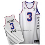 Camiseta All Star 2015 Dwyane Wade #3 Blanco