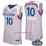 Camiseta All Star 2017 Toronto Raptors DeMar DeRoza #10 Gris