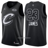 Camiseta All Star 2018 Cleveland Cavaliers Lebron James #23 Negro