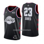 Camiseta All Star 2019 Los Angeles Lakers Lebron James #23 Negro