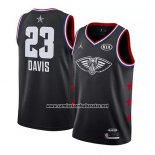Camiseta All Star 2019 New Orleans Pelicans Anthony Davis #23 Negro