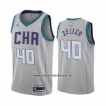 Camiseta Charlotte Hornets Cody Zeller #40 Ciudad Edition Gris