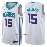 Camiseta Charlotte Hornets Kemba Walker #15 Association 2017-18 Blanco