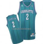 Camiseta Charlotte Hornets Larry Johnson #2 Retro Verde