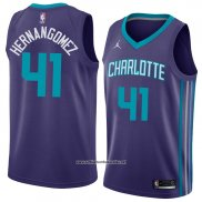 Camiseta Charlotte Hornets Willy Hernangomez #41 Statement 2018 Violet
