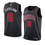 Camiseta Chicago Bulls Antonius Cleveland #0 Statement 2018 Negro